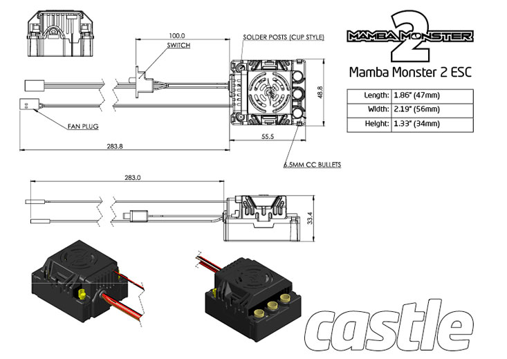 v2 castle creations mamba monster 2 1 rh buyrc co kr mamba monster x wiring diagram Castle Creations